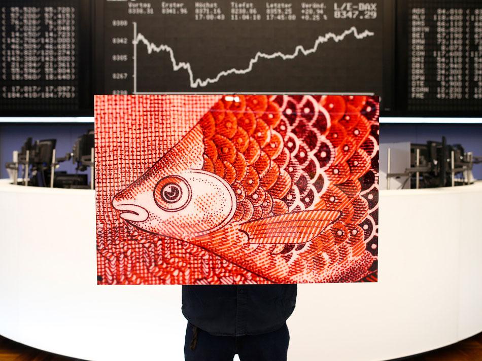 Pete Jones mit Fisch aus Sri Lanka in der Börse | Foto©Ralph Orlowski