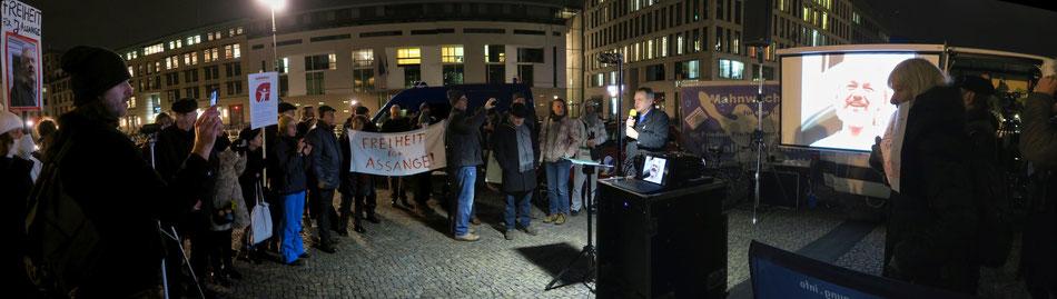 Solidaritätskundgebung für Julien Assange
