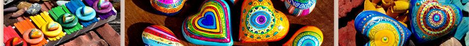 bunt farbe herzen handarbeit kunst filigran geschenk