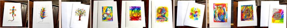 Kunstkarten druck kunst zeichnungen bilder karten