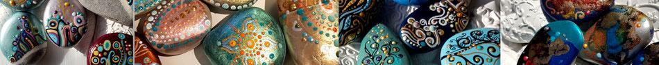 Steine verkauf dot punkt Alkohol Ink kunst filigran muster dotsteine
