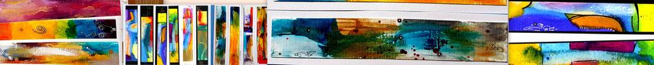 buchzeichen bookmarks lesezeichen bunt farbig kunst