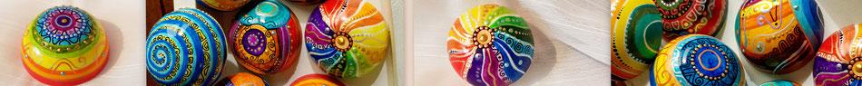 kunst bemalt gussarbeit halbkugeln kunsthandwerk geschenk