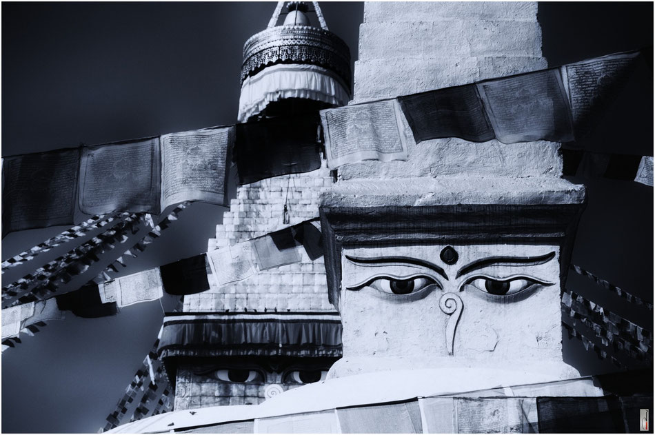 The eyes of Bodnath/Boudhanath Stupa (Kathmandu/Nepal) / 2011