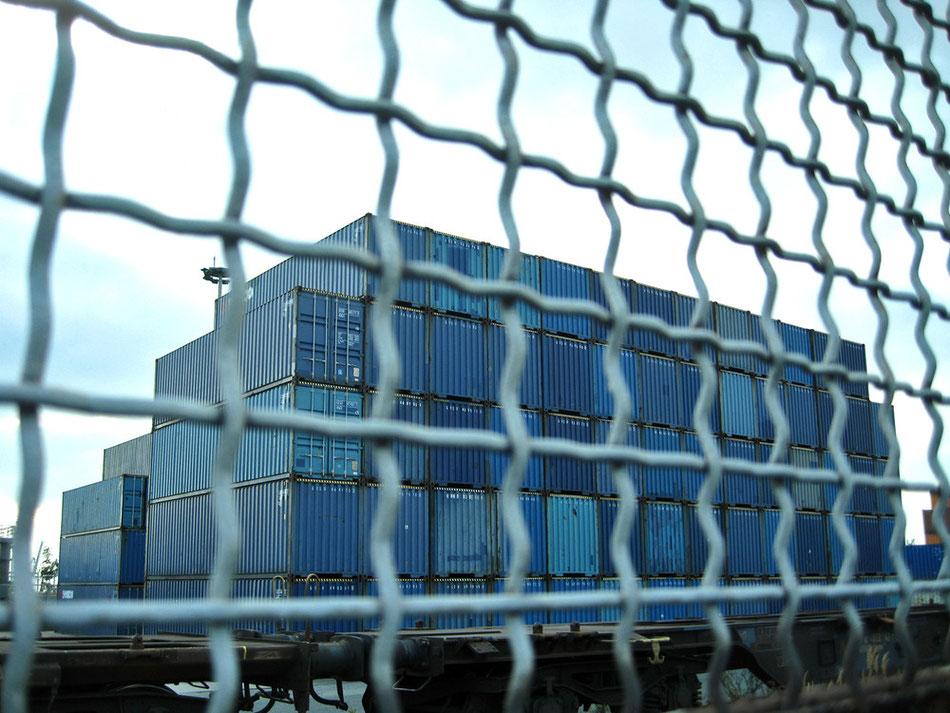 blaue Container