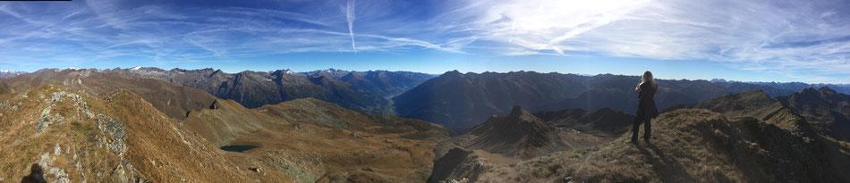 Ausblick vom Hochgrubenkopf ca. 3std. von der Hütte entfernt
