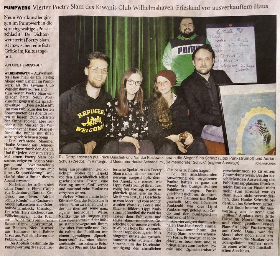 Wilhelmshavener Zeitung vom 19.03.2018