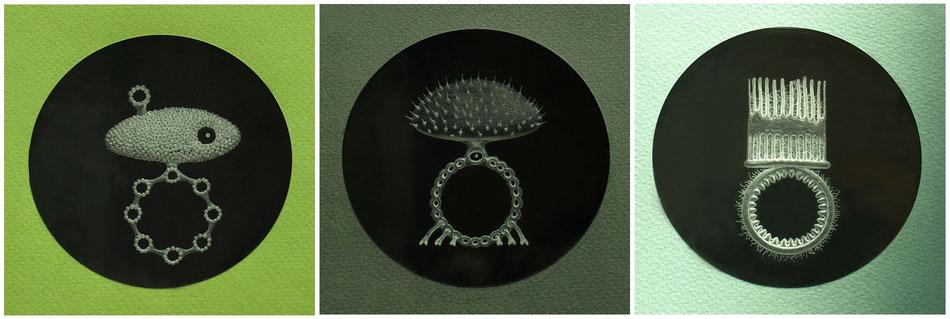 Drei Krönungsringe - Acryl gefräst