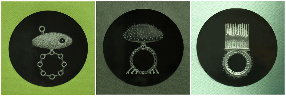 Drei Krönungsringe - Acryl gefräst :: 2016