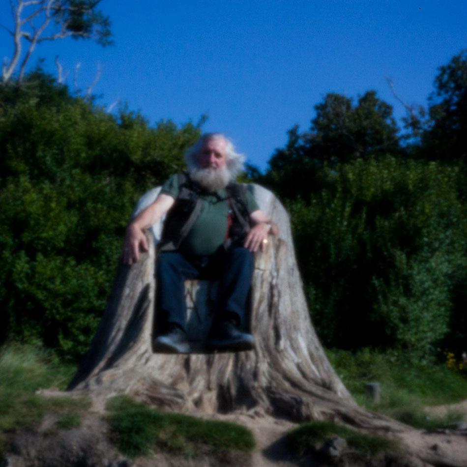 Le roi des trolls sur son trône à Perros Guirec