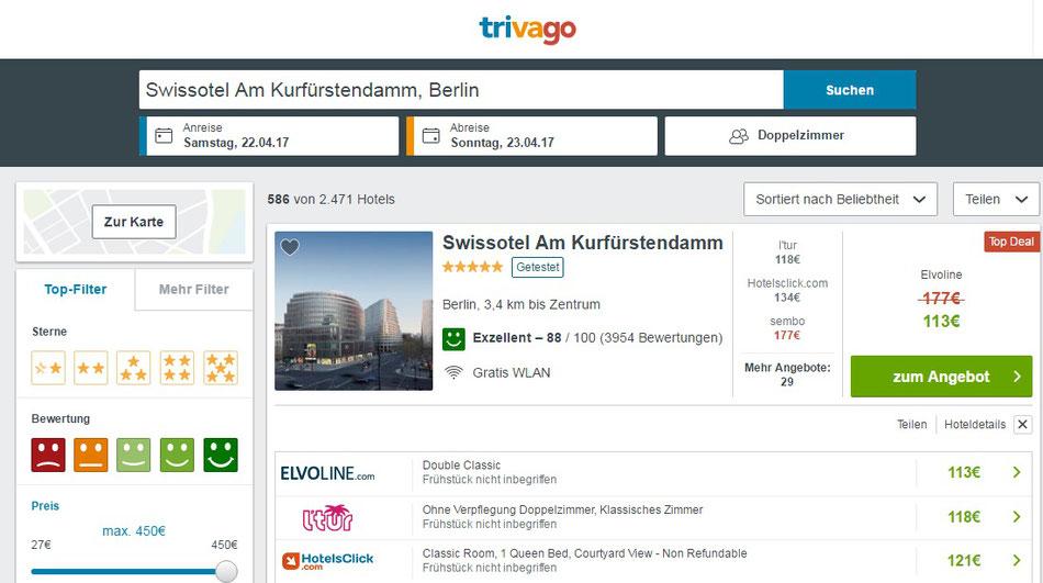 CheckEinfach | Trivago Swisshotel Berlin