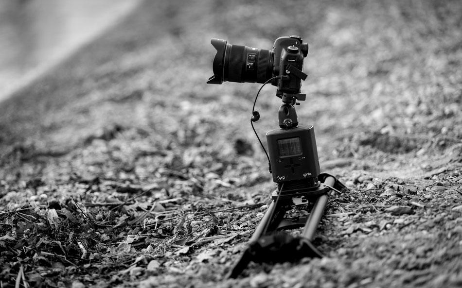 Syrp Genie und Slider in Verwendung mit Canon 5D Mark II