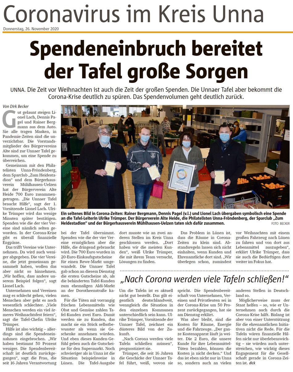 Hellweger Anzeiger vom 26.11.2020