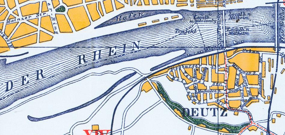 Deutzer Ufer um 1900.