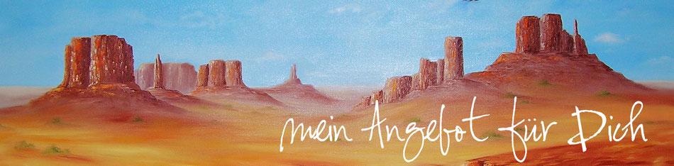 Landschaft - Monument Valley - Öl-Gemälde - Angebot - Auftragsmalerei
