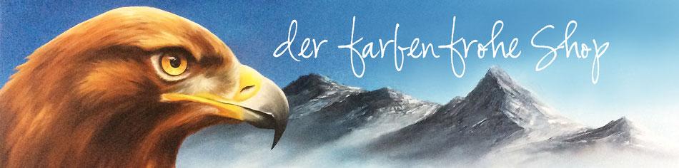 der farbenfrohe Shop - Adler - Steinadler - Gebirge - Tiermalerei - Landschaft - Malerei - Öl-Gemälde