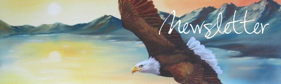Adler - Weisskopfseeadler - Adler im Flug - Öl-Gemälde - Newsletter