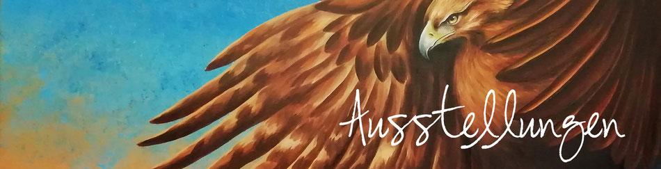 Adler - Steinadler - Tiermalerei - Greifvogel - Öl-Gemälde - Ausstellung