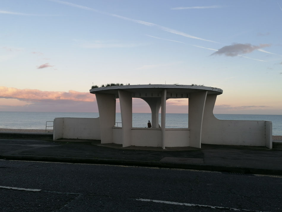 One of the Art Deco Seaside Shelters on Deal Seafront. Photo: MSmith