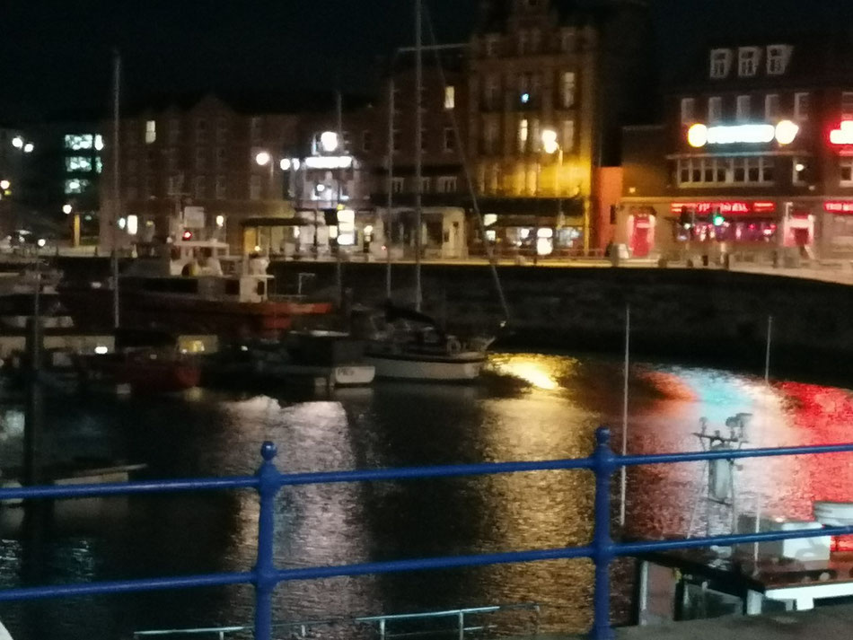 Harbour Parade, Ramsgate, by night. Photo: M Smith