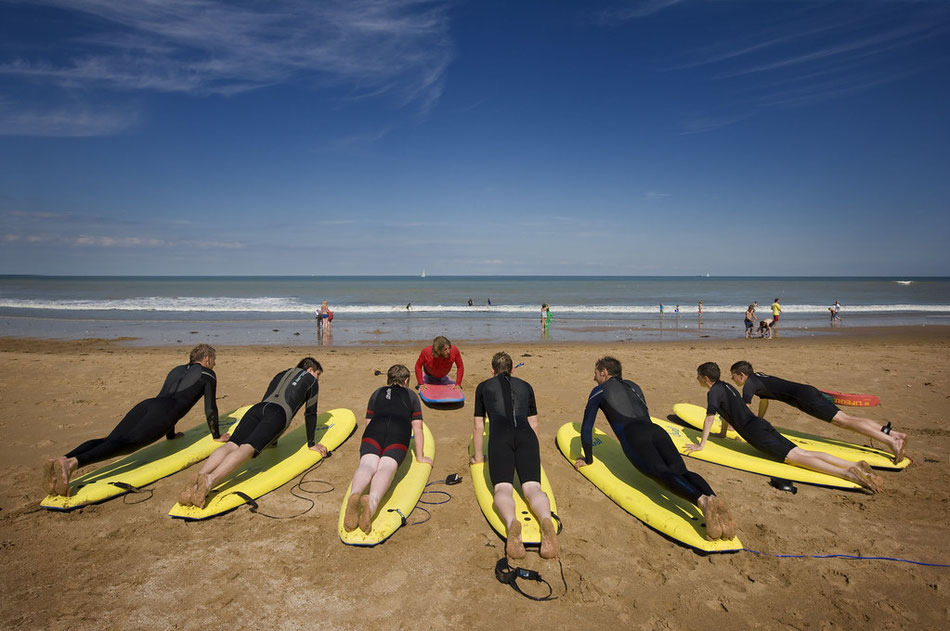 Lessons at Joss Bay. Image via Explore Thanet