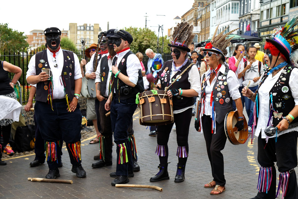 A Morris side at Broadstairs Folk Week.  Image © Acabashi; Creative Commons CC-BY-SA 4.0; Source: Wikimedia Commons