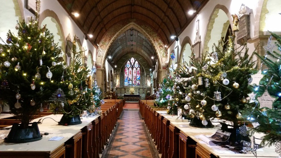 St.-Peter's-in-Thanet Christmas Tree Festival 2017. Photo: St. Peter's Church.