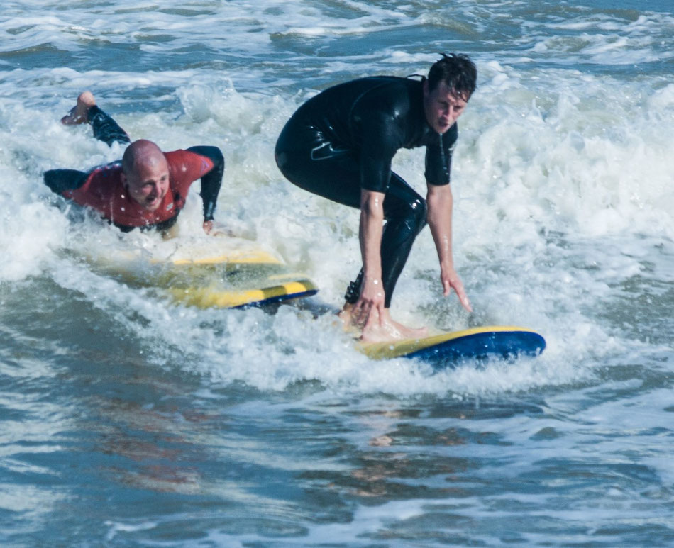Surfing at Viking Bay. Image: Kent Surf School