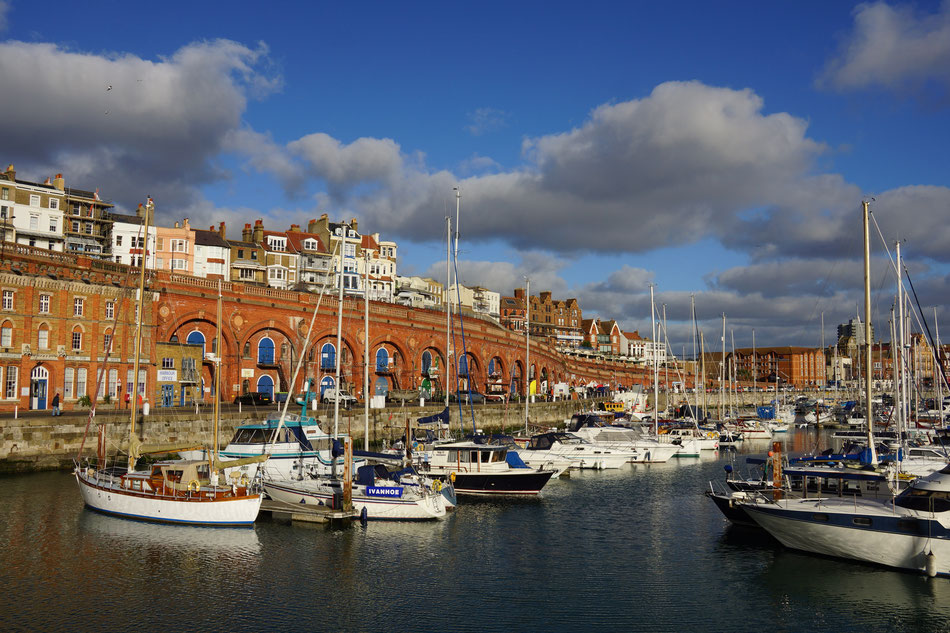 The splendid Military Road Arches, Ramsgate Harbour.