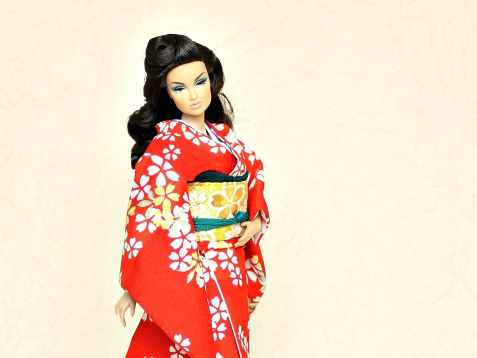 Fashion Royalty kimono,Fashion Royalty着物