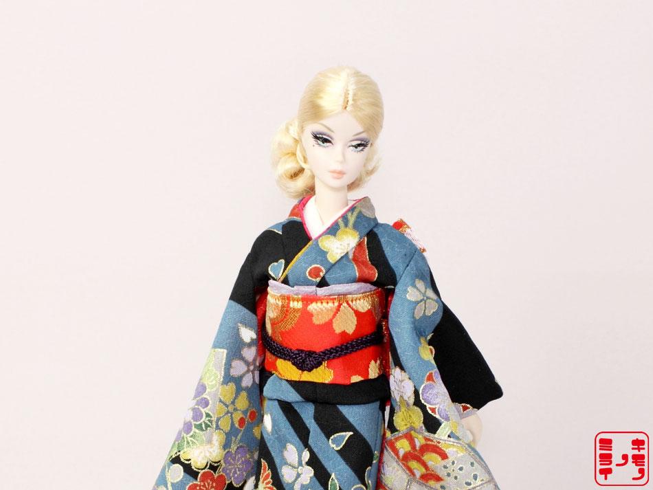 バービー振袖・Kimono Barbie,FR kimono