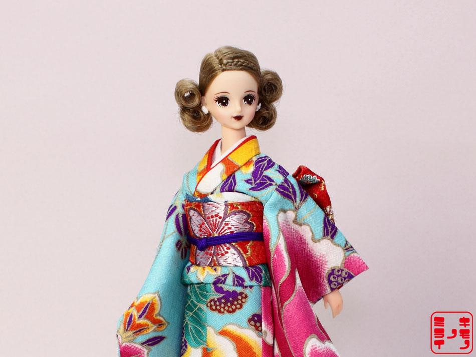 ジェニー振袖、momoko kimono,Pullip kimono,プーリップ 着物