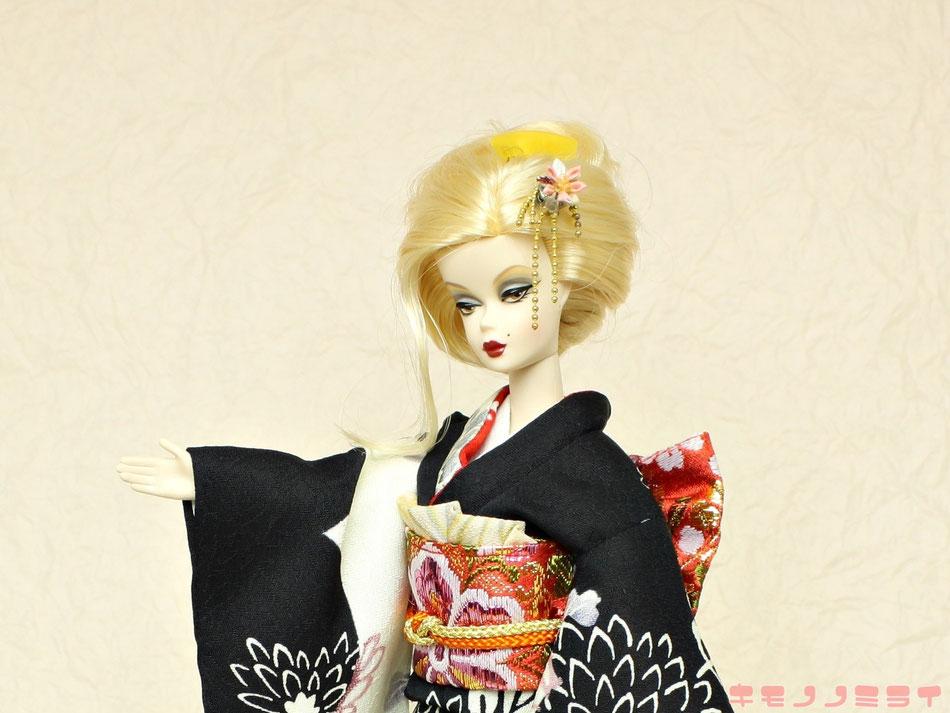 バービー振袖・kimono Barbie,Poppy Parker kimono