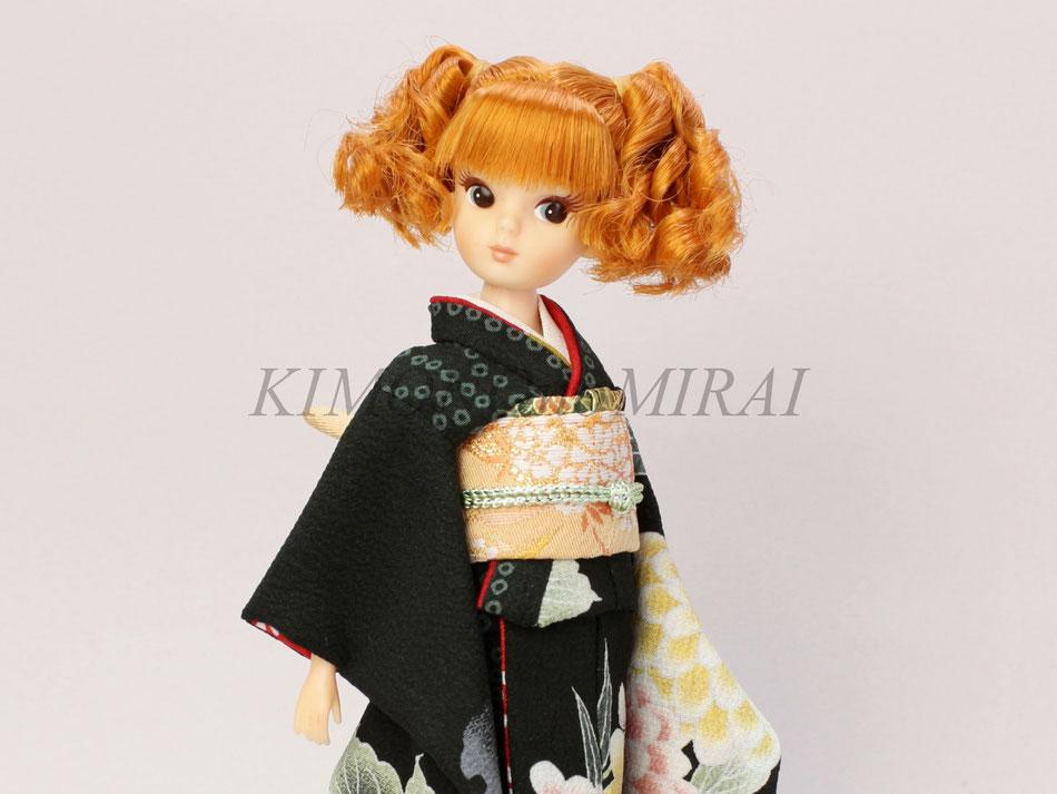 復刻版 初代リカちゃん着物、Licca kimono、復刻リカ 振袖
