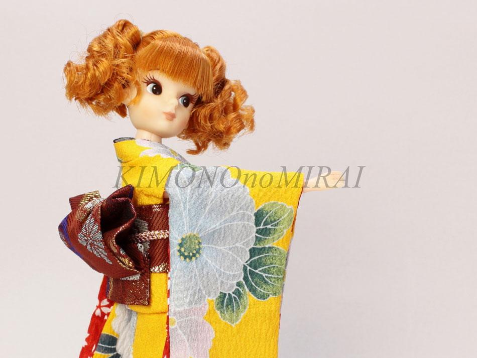 復刻版 初代リカちゃん着物,復刻リカ OF,kimono Licca