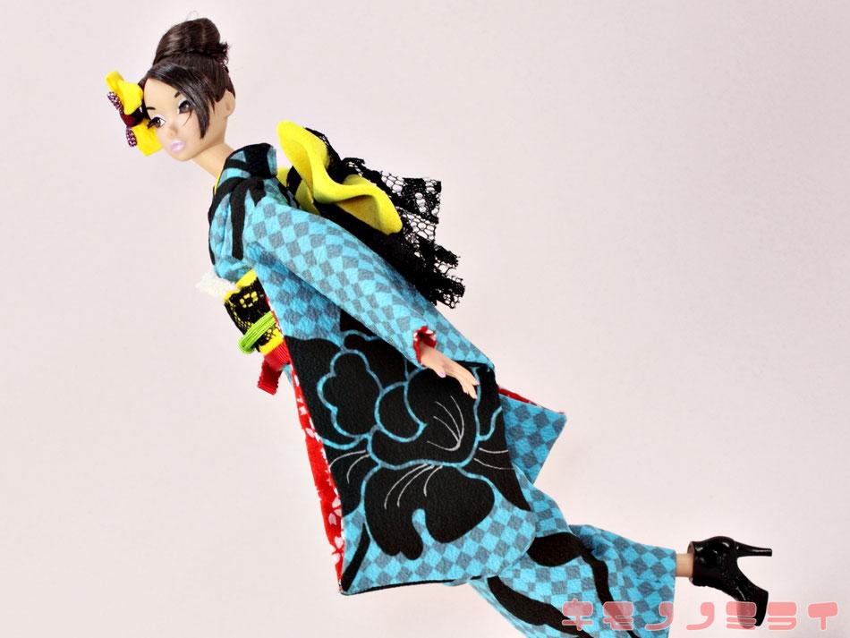 Poppy Parker kimono,Misaki wafuku,バービー 着物