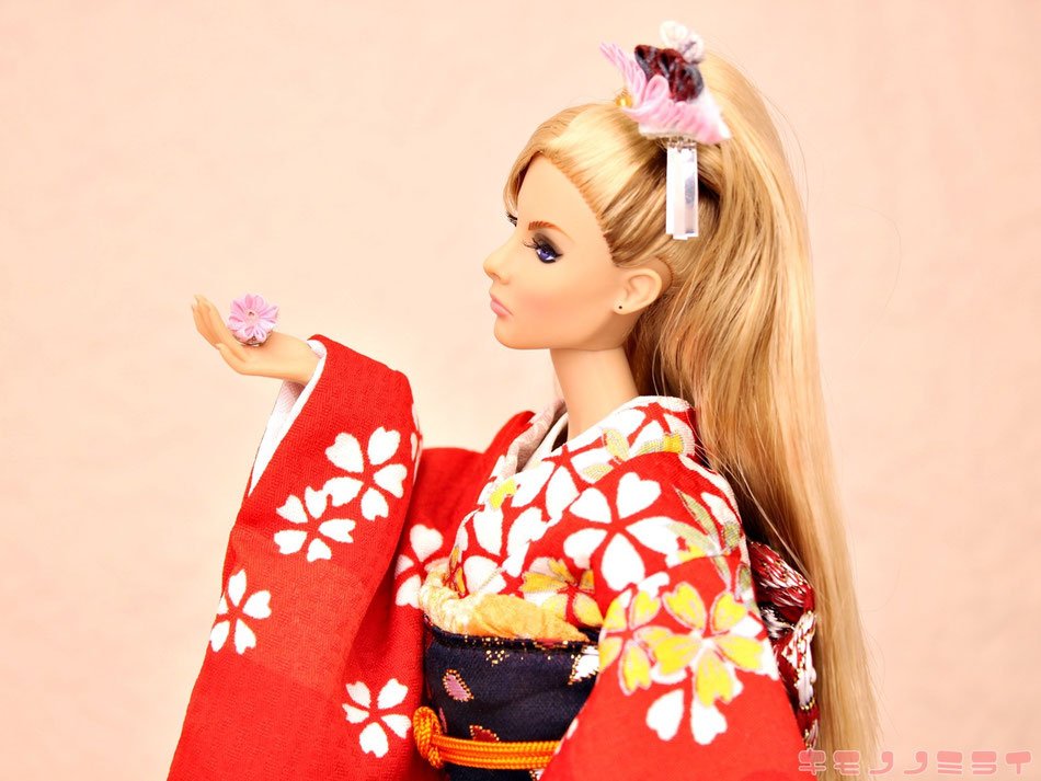Giselle Fashon Royalty,Giselle dress,kimono,furisode,着物 振袖 赤 桜