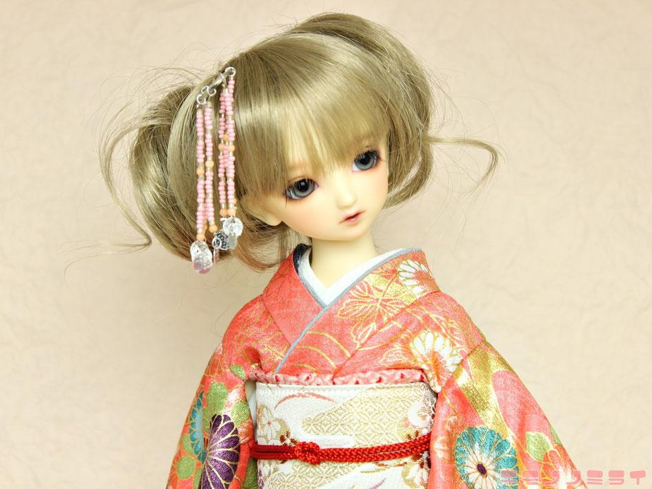 MSD kimono,SDM 着物,人形 振袖