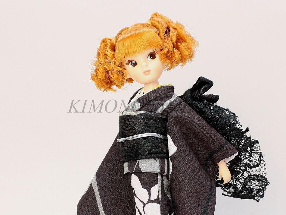 復刻版 初代リカちゃん 着物,ruruko kimono,ミディブライス 振袖