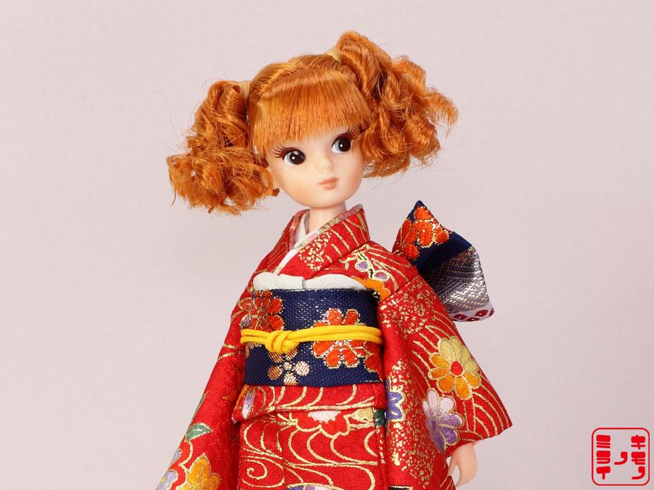 復刻版初代リカちゃん 着物,初代リカ 振袖,リカちゃん 和服