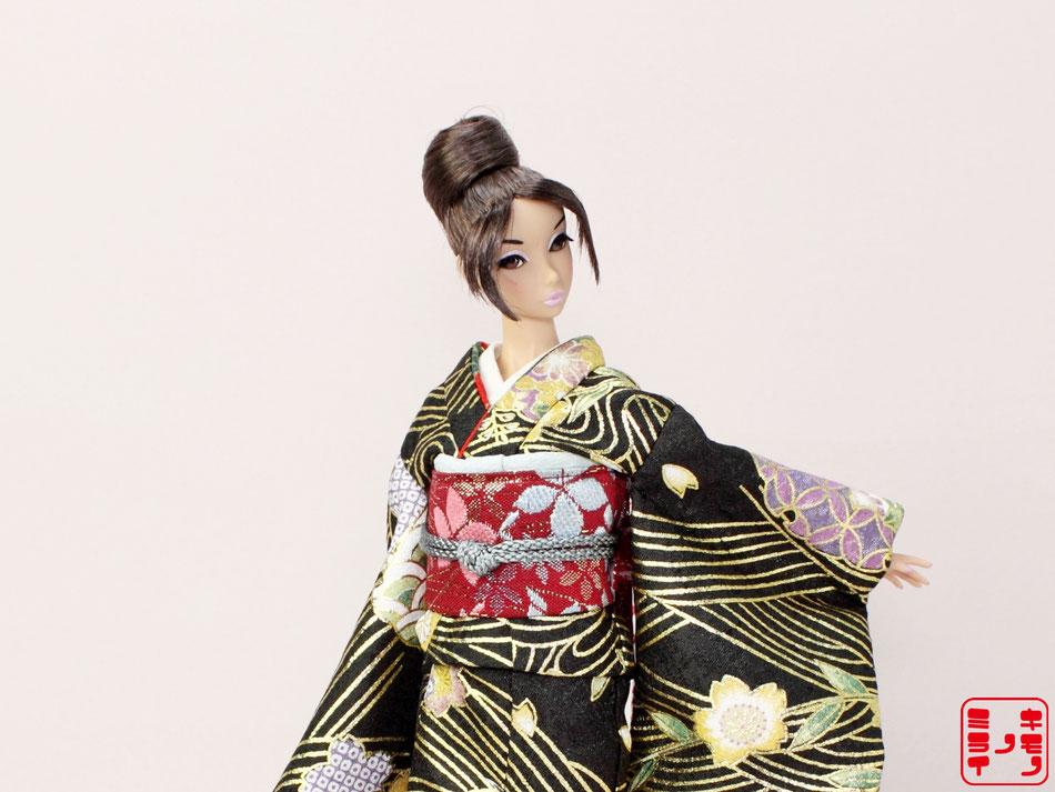 バービー 着物,Barbie kimono,Poppy Parker Furisode,FR NIPPON Wafuku,MISAKI Japan