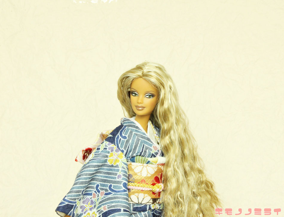 バービー振袖・Kimono Barbie,FR kimomo