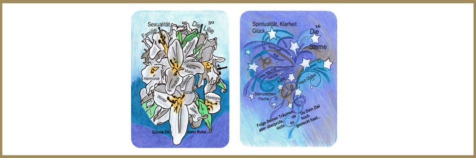 Lenormand Lilie und Sterne