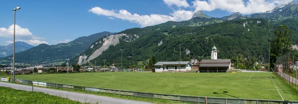 Rasenplatz für Fussball