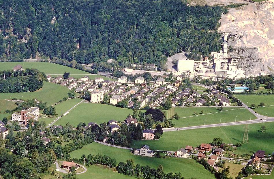 Fuchsgut, Lerchengut, Goldigen, Chalchi, August 1998 von der Seilbahn aus