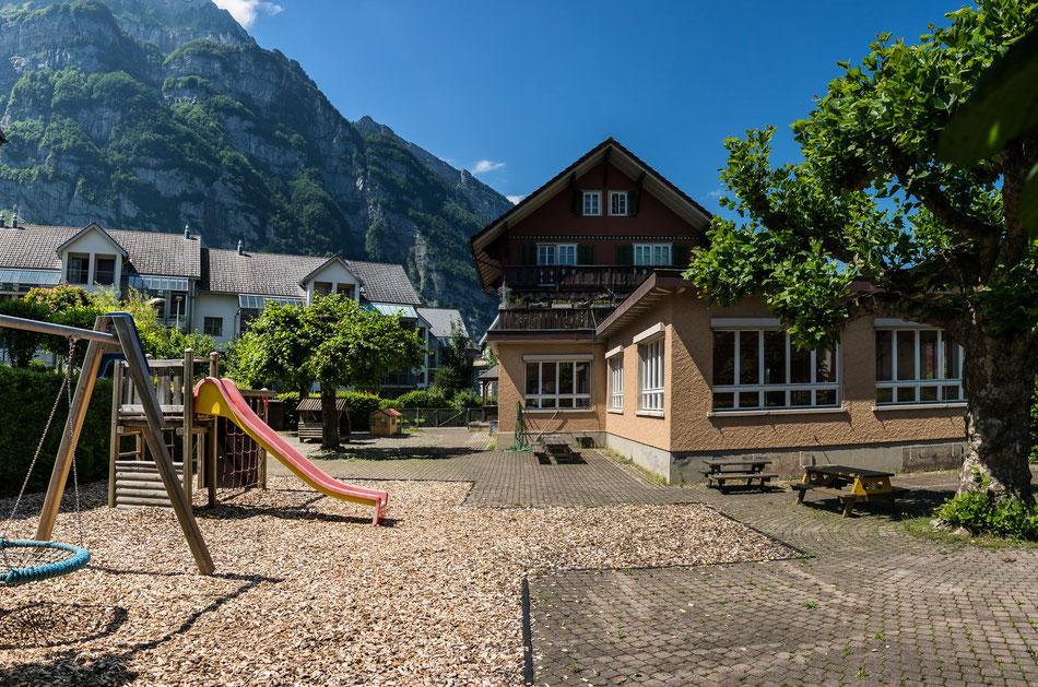 Ennetbachstrasse 9, Koordinaten 722954 213600. Aufnahmedatum: 1. Juli 2013