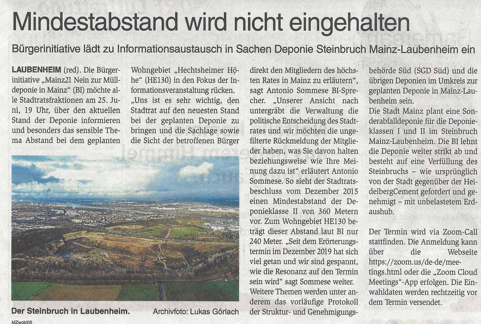 Der Steinbruch in Laubenheim - Archivfoto: Lukas Görlach