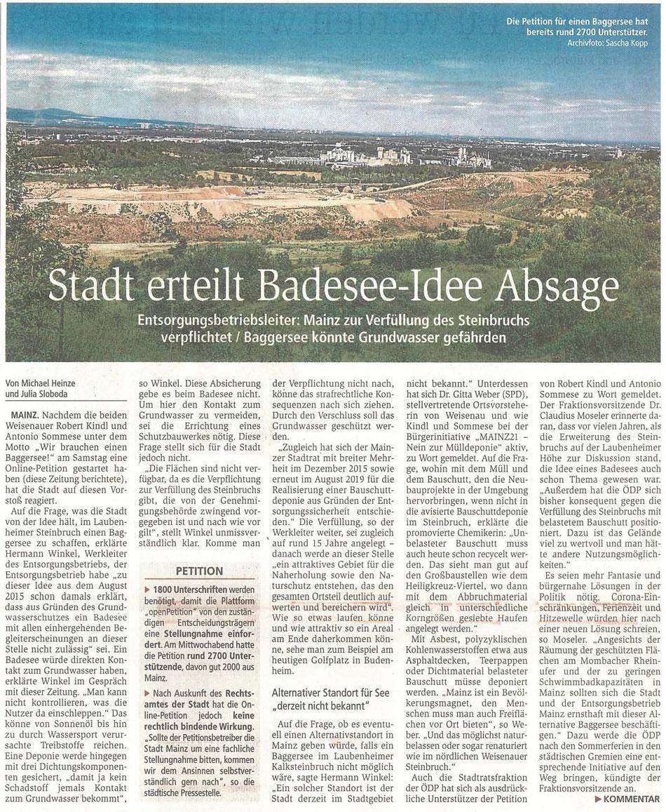 Die Petition für einen Baggersee hat bereits rund 2700 Unterstützer. Archivfoto: Sascha Kopp