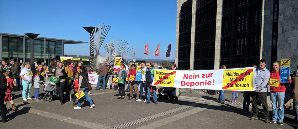 Beschluss über die Deponie im Mainzer Steinbruch wird vertagt!