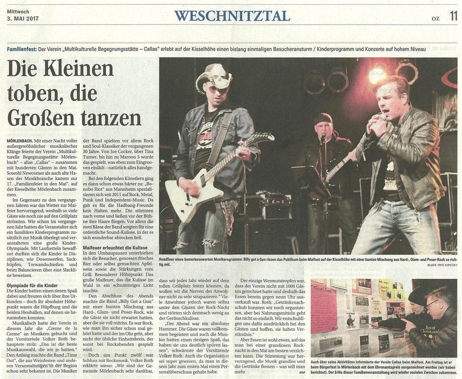 Odenwälder Zeitung vom 3. Mai 2017